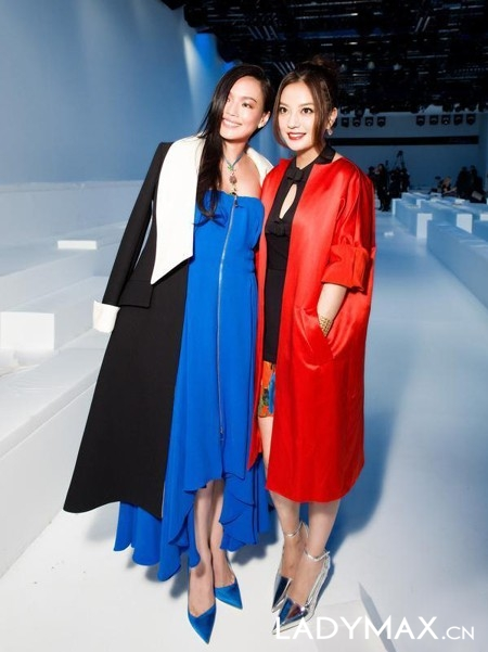 Shu Qi and Vicki Zhao at PFW 3/4/14.